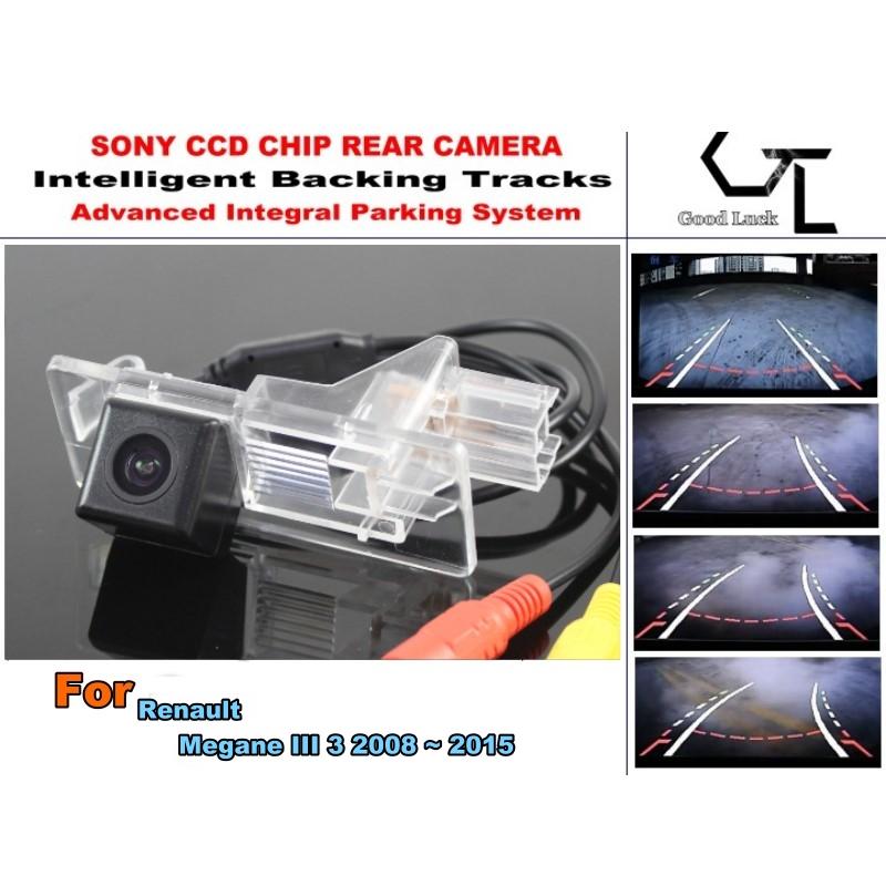 For Renault Megane III 3 2008 ~ 2015 Rear View Parking Car Camera Night Vision imports HD CCD Backing Tracks Chip Camera(China (Mainland))