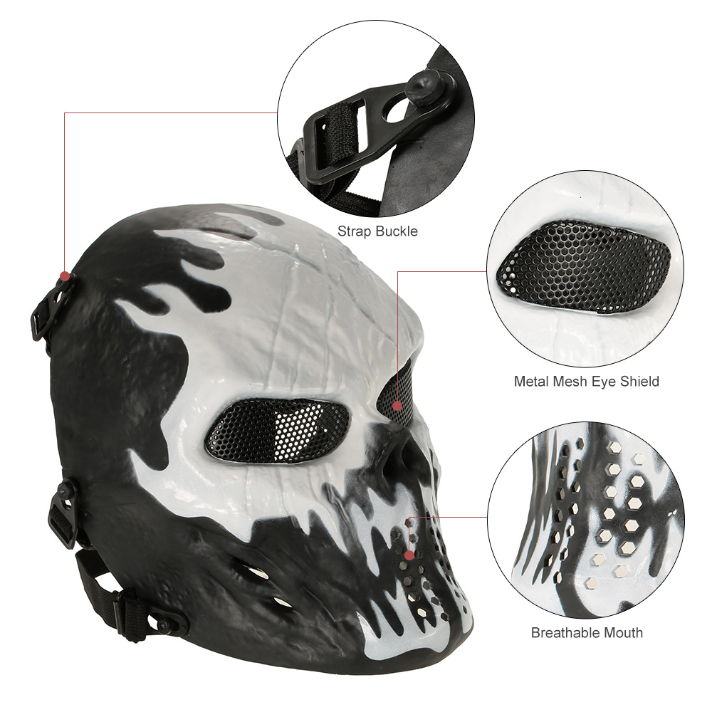 Outdoor Wargame Tactical Mask Full Face Airsoft Paintball CS Army Mask Halloween Party Cosplay Protective Face Mask(China (Mainland))