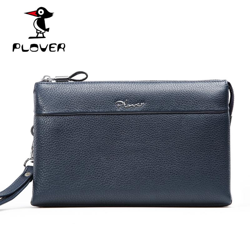 2016 Designer Mens Bag Wallets Genuine Leather Fashion Business Famous Brand Plover Phone Bag Money Clip ID Card Pocket PL209(China (Mainland))