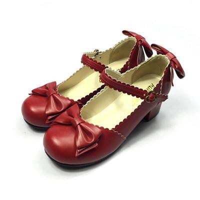 Весной с бантом лолита сладкие юниоры жук из натуральной кожи обувь одного женской ...