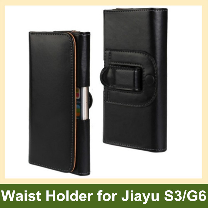 Fashion PU Leather Waist Holder Flip Cover Pouch Case for Jiayu G6 S3 10pcs/lot Free Shipping
