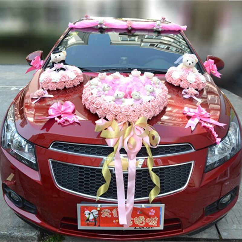 2016 newly listed wedding accessories flower wedding car for Automobile decoration accessories