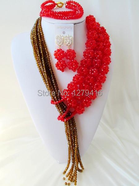 Здесь можно купить  Good Quality  Crystal Nigerian Wedding African Beads Jewelry Set   AA377  Ювелирные изделия и часы