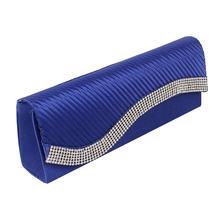Bridal Fashion Wedding Day Clutches Purse Crystal Diamonds Designer Satin Evening bag Wedding Party Clutches purse XA438D