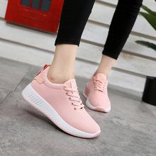 Удобные Женские кроссовки Air Mesh весна/Осенняя обувь сплошной черный/белый/розовый женская обувь Zapatillas женские; дополнительные размеры 35–40(China)