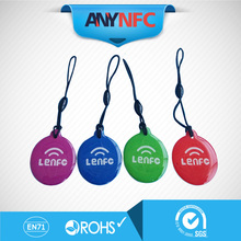 (4pcs/lot)Waterproof Ntag203 NFC Smart Tags for Samsung Note3 S4 Nokia Lumia 920 Nexus 4/10 Oppo HTC * Free Shipping