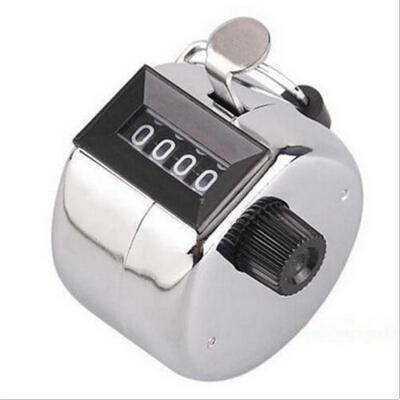 Personality Manual Hand held 4 Digit Number Clicker Digital Counters Stainless Metal Counters High Quality Analysis Instruments(China (Mainland))