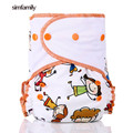 simfamily New Arrival Waterproof Suede Cloth One Size Reusable Pocket Diapers Baby Cloth Diaper PUL