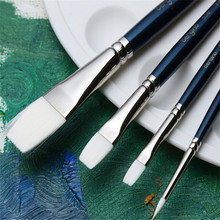 Buy 4pcs/set White Nylon Hair Painting Brush Set Gouache Watercolor Oil Acrylic Drawing Brush Pen Artist Using Supplies for $10.49 in AliExpress store
