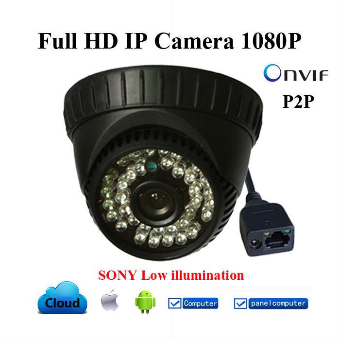 New Full HD IP Camera 1080P Mini Dome CCTV Camera 36 IR LED Night Vision 2.0 Mega pixel indoor motion detection Network Cam(China (Mainland))