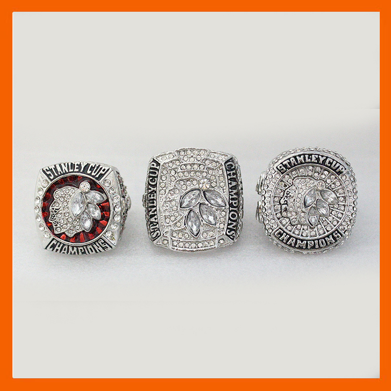 NHL Set Replica Ice Hockey Chicago Blackhawks Set 2010/2013/2015 Stanley Cup Championship Ring From US Size 8 to 14 available(China (Mainland))