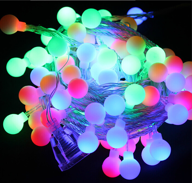 Novelty Xmas Outdoor Lighting 5 Meters LED Ball String Light Home Party Garden Wedding Christmas ...
