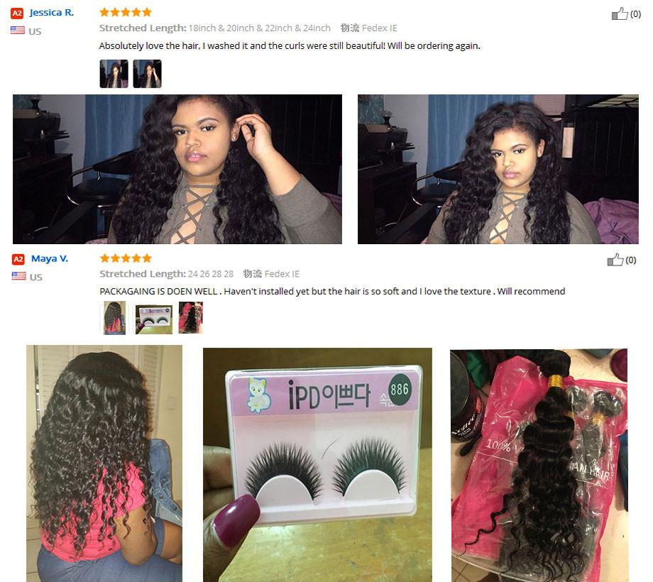 4Pcs Brazilian Loose Deep Wave With Closure Queen Hair Brazilian Deep Wave With Closure Cheap Human Hair with Closure Deep Curly