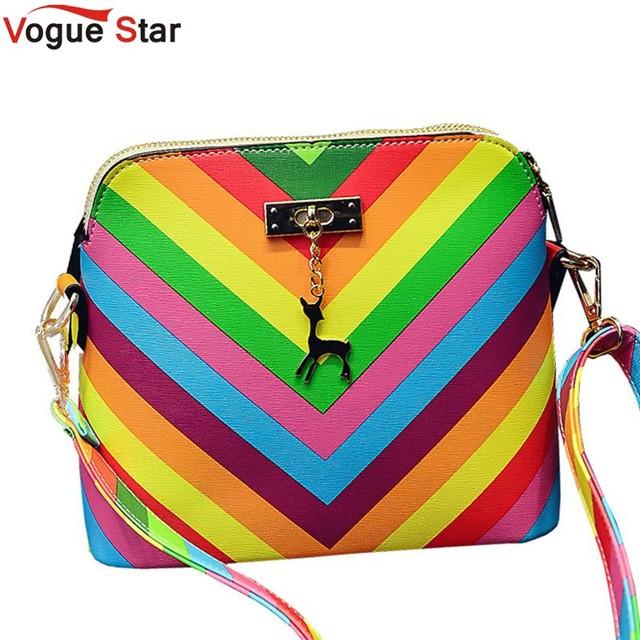Мода Звезда 2016 Радуга shell сумка летний пляж Известный бренд мода Кожа PU является ...
