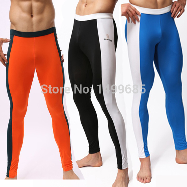 Men Yoga pants,2014 New Genuine Sports Apparel Compression Running Tights Fitness Men Yoga sport pants mens joggers trousers(China (Mainland))