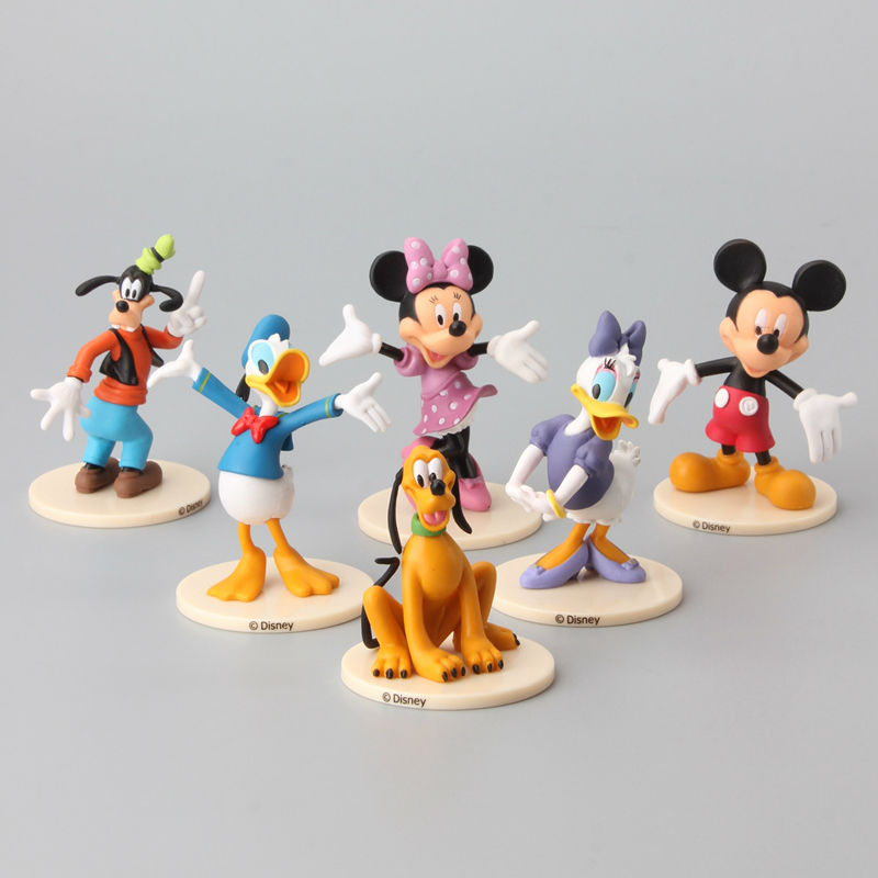 High Quality 6 Pcs/Set Mickey & Minnie Mouse Donald Duck PVC Action Figures Toys Kids Gift(China (Mainland))