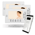 FREE SHIPPING New 7 Video Door Phone Intercom System 3 White Monitors 1 Outdoor Bell Camera