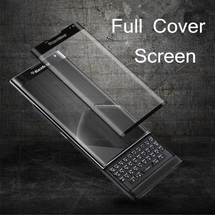 3 Colors New 3D Curved Surface Full Screen Cover Explosion-proof Tempered Glass Film for Blackberry Priv/Venice(China (Mainland))