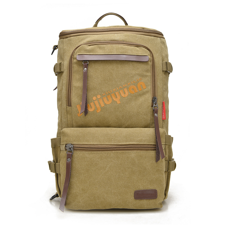 RIRIXING Brand Men's Women's Large Capacity Canvas Pack Multi Purpose Outdoor Backpack Shoulder Travel Sport Hiking Camping Bag(China (Mainland))