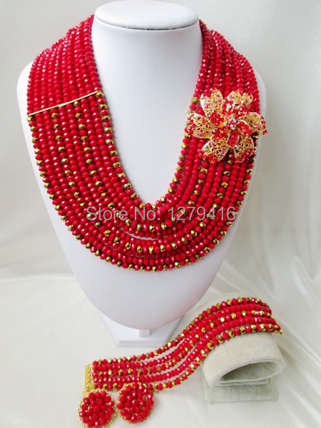 2014 Rushed  Classic Women Crystal Jewelry Sets New Arrived Nigeria Jewelry Set Necklace Africa Beads Set  AAA117<br><br>Aliexpress