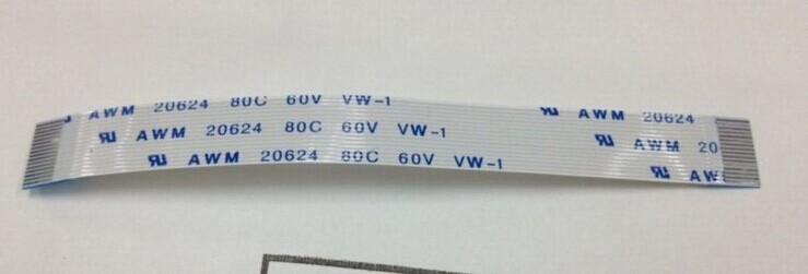 Free shipping FFC Type A Flex Ribbon Power Cable AWM 20624 80C 60V 80mm 16pin(China (Mainland))