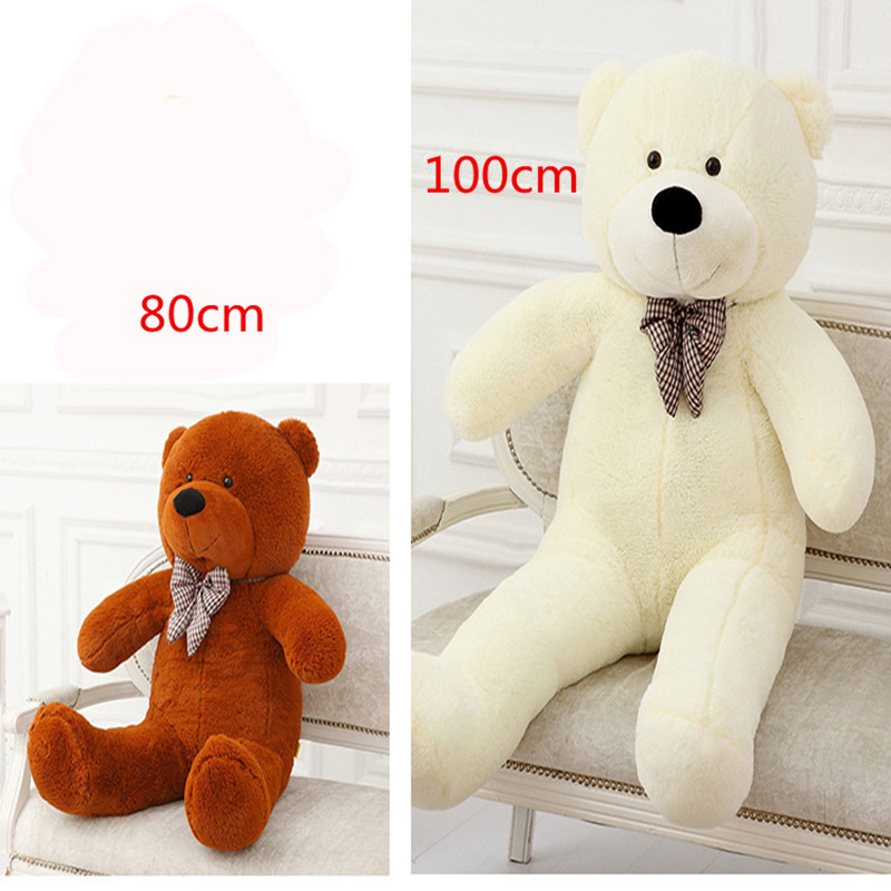 Big 80cm 100cm Giant Teddy Bear Plush Toys Soft Stuffed Teddy Dolls Huge Ted Gifts for Baby Kids Girlfriends(China (Mainland))
