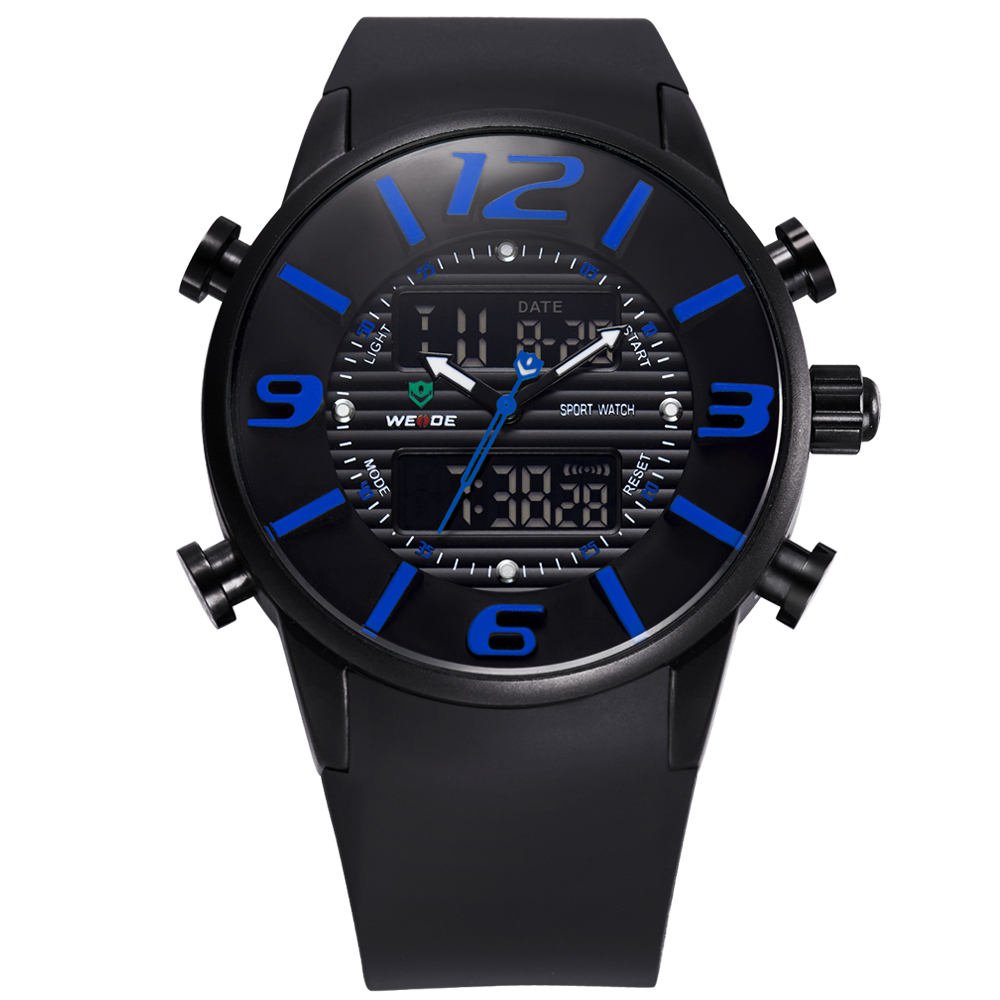Hot!2015 New WEIDE Unique Design Fashion Men Sports Full Steel Watches Men's Quartz Military Army Diver Full Steel Watch(China (Mainland))