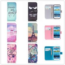 Stand Flip Wallet Cover Leather Paiting Soft Case For Samsung Galaxy S3 S4 S5 mini Neo S6 S7 edge For iphone 4 4s 5 5s SE 6 6s 7(China (Mainland))