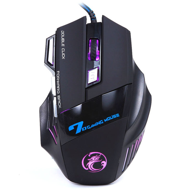 Hot Selling 3200DPI LED Optical 7D USB Wired Gaming Game Mouse For Computer Games PC Laptop Notebook Free Shipping Rainbow(China (Mainland))