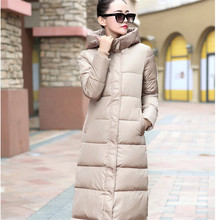 7-14 days To Moscow 2016 New winter design long overcoat  women's cotton-padded jacket  plus size candy color Jackets & Coats