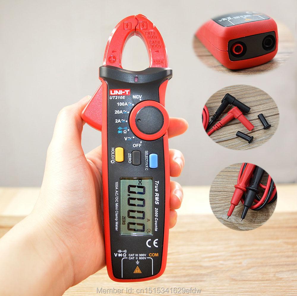 Mini Current Hand Clamp Meters True RMS AC/DC Capacitance Tester UNI-TUT210E