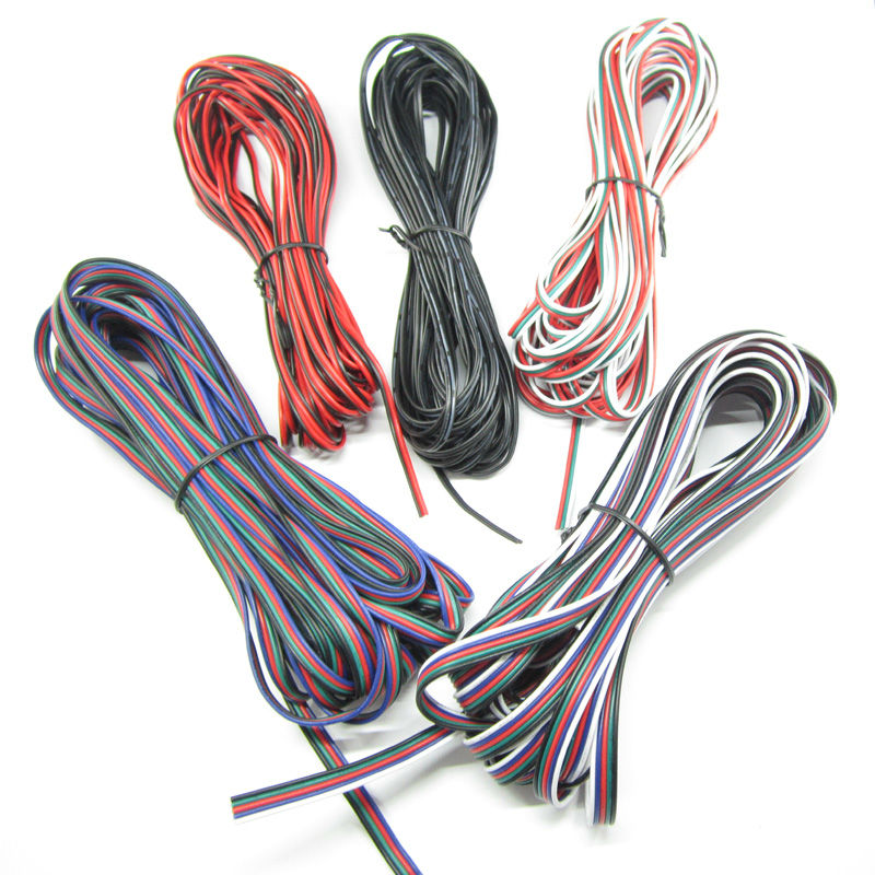 22awg tinned copper cable wire, 2pin / 3pin / 4pin / 5pin pvc insulated electrical extension wire for lighting connect(China (Mainland))