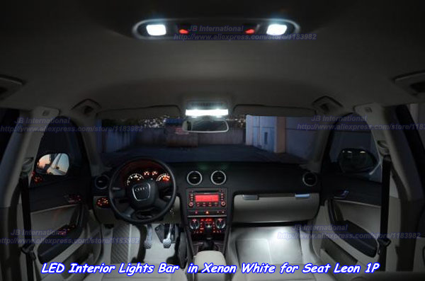 canbus car led interior lights bar in xenon white for seat leon 1p led bar 12v car dome reading. Black Bedroom Furniture Sets. Home Design Ideas