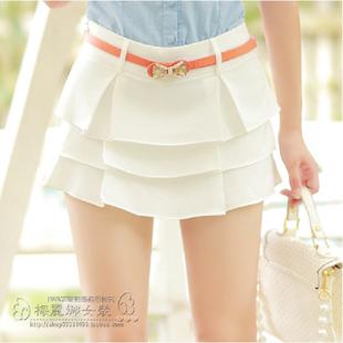 S-XL 2015 summer women shorts retro flounced waist shorts simple sweet culottes cheap high waisted shorts intage SKIRTS 2 COLOR(China (Mainland))