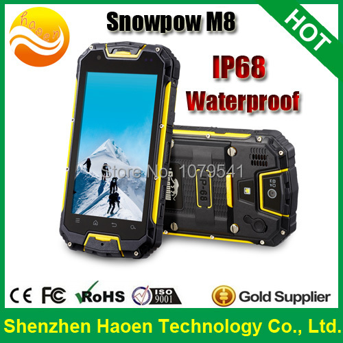 2015 New Snopow M8S M8 Waterproof rugged smartphone with MTK6589 IP68 Waterproof Rugged Phones with Ultra long standby Phones(China (Mainland))