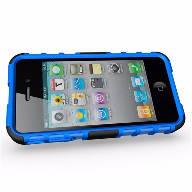For Apple iphone 4 4G 4S Heavy Duty Defender Case Impact Hybrid Armor Hard Cover With Stand Phone Cases