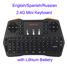 Buy Mini Handheld Keyboard 2.4G Wireless English/Spanish/Russian Touchpad Mouse Gaming Keyboards Laptop PC Smart TV Android TV for $15.74 in AliExpress store