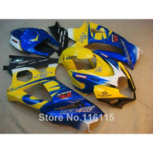 ABS Motorcycle parts SUZUKI GSXR 1000 K7 K8 07 08 fairing kit GSXR1000 2007 2008 yellow blue Corona fairings set JS96 - Welcome Shopping's store