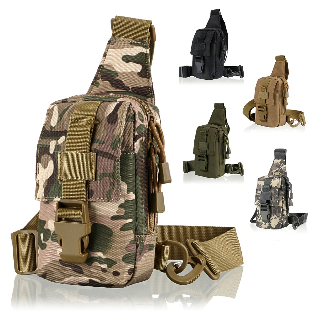 5 Color Camping bag Chest Sling Pack Outdoor Sport One Single Shoulder Big Large Ride Travel Backpack Bag Advanced Tactical(China (Mainland))