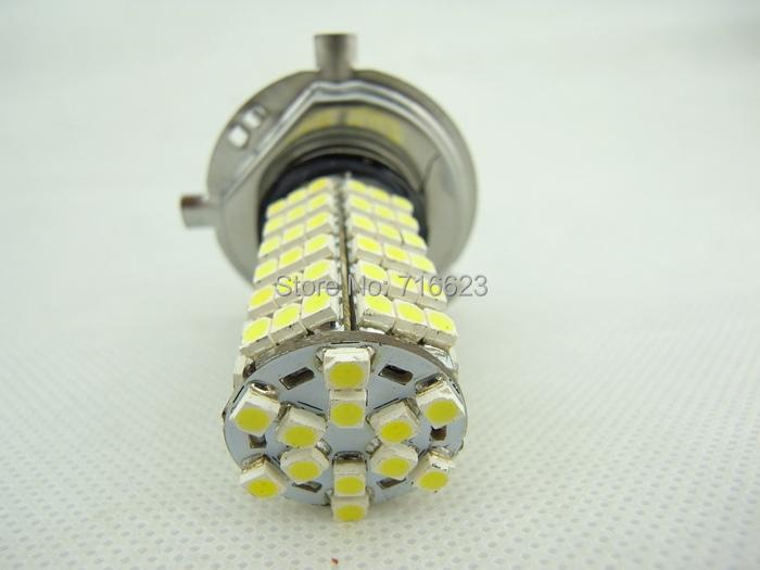New 2xWhite H4 120 LED SMD 1210 3528 LED Super Bright Car Fog Headlight Day Running Main Beam Light Bulb Lamp 12V Auto parking(China (Mainland))