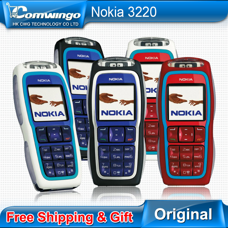 Original Nokia 3220 GSM Cell Phone Original Unlocked NOKIA phone nokia 3220 mobile phone Support Russian Hebrew Drop shipping(China (Mainland))