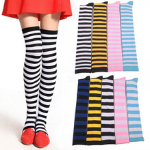 Anime Cosplay Girls Stripe Thigh High Stockings