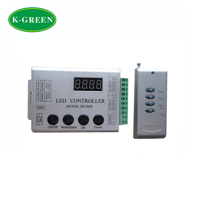 LPD8806 133 changing models programmable LED strip controller Max 2048 pixels free shipping(China (Mainland))