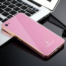 For lenovo s90 Sisley Luxury Design Acrylic PC Back Cover & Aluminum Metal Frame Case For Sisley S90 Protective Phone Case