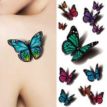 3D бабочки татуировки наклейки боди-арт Декор полет бабочки Водонепроницаемый бумаги временные татуировки(China (Mainland))