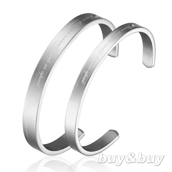 Free shipping 316L stainless steel LOVERS Bracelets & Bangles , Modle NELT-22, Retails 1 pair, wholesale 5 Pairs/Lot.(China (Mainland))