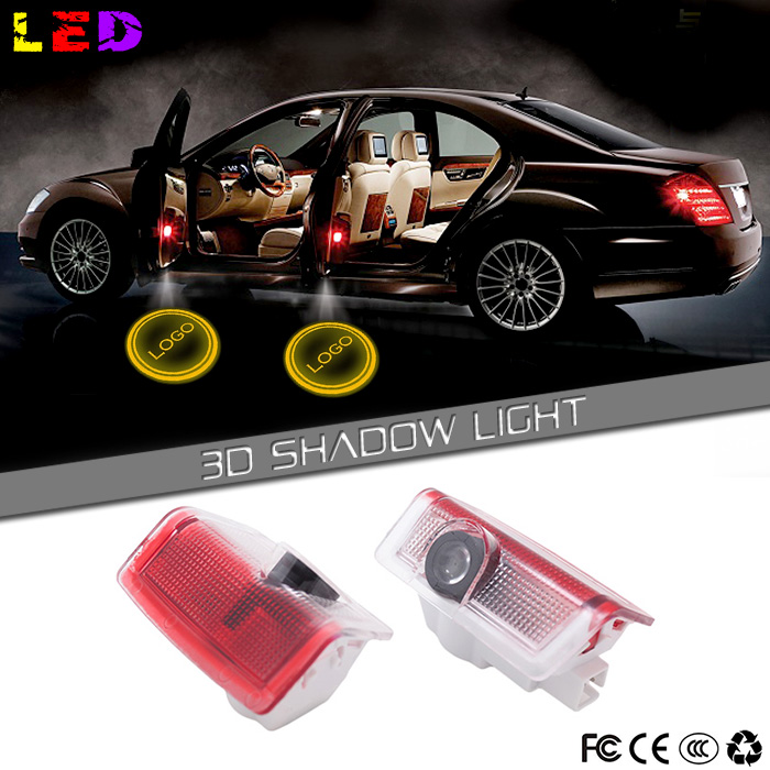 LED Car Door Welcome Light led Projector Logo For Mercedes benz w212 w166 w176 E B C ML Class(China (Mainland))