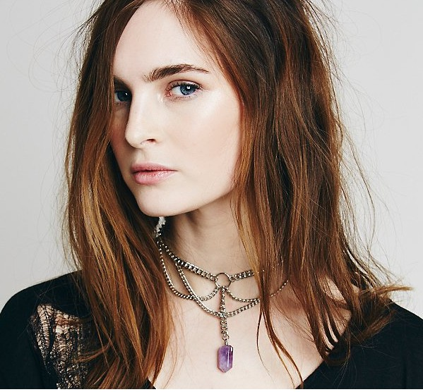2015 New Summer Bullet Natural Stones Necklaces Multi Layered Chains Amethyst Gem Stone Quartz Pendants Necklace For Women<br><br>Aliexpress
