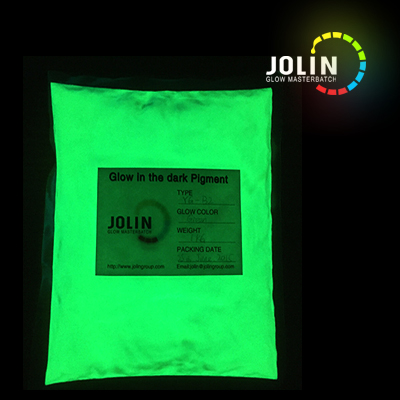 100g Glow in the dark powder YG-B3 for spray paint, screen printing ink, resin, plastic, silicone rubber(China (Mainland))