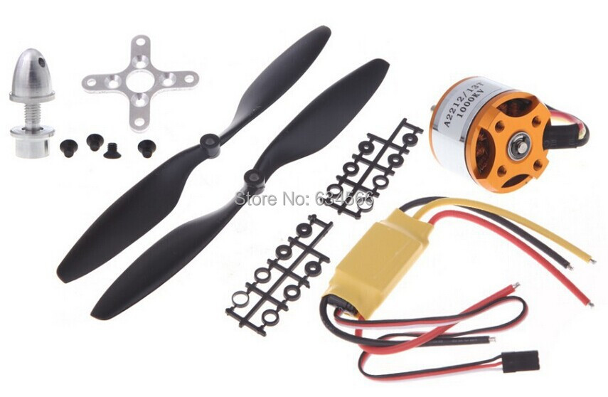 A2212 1000KV Brushless Outrunner Motor + 30A ESC 1045 Prop (B) Quad-Rotor Set RC Aircraft Multicopter - Online Store 634566 store